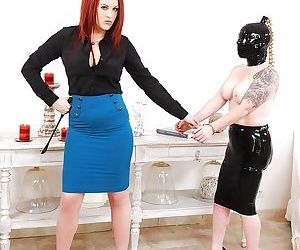 Fetish bitch Angel Deelight teaches Paige about BDSM and..