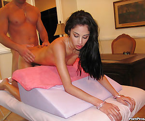 Aries Stone getting her pussy banged after a proper..