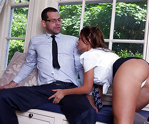 Stunning european schoolgirl seduces her teacher and gets..