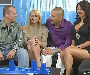 Hot wives Coral Leyra and Angel Rivas swap hubbies during..
