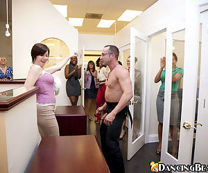 Gorgeous MILFs getting horny at the hardcore office party