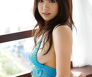 Japanese model mai nadasaka showing tits and pussy - part..
