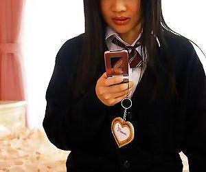 Japanese schoolgirl hikaru momose toying her pussy - part..