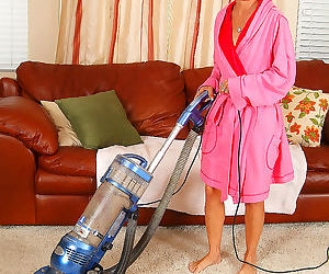 Horny grandmother strips after her chores are done - part..