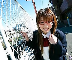Japan schoolgirl yume kimino showin tits and pussy - part..