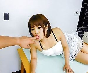 Asian saya tachibana likes hot hardcore in kitchen - part..
