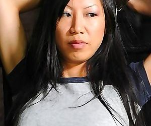 Tia ling busty asian is bound in spread her pussy toyed in..