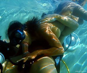 Underwater blowjob and fucking with this horny asian priva..