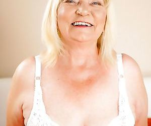 Horny granny irene is ready to give her stud lover rob -..
