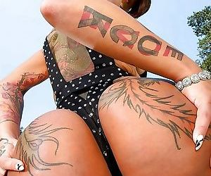 Asian big ass babe with tatoos bella bellz spreading her..