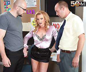 Milf amanda verhooks in hot office anal action - part 77