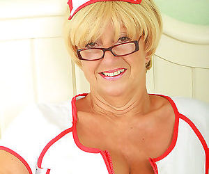 62 year old samantha plays a horny nurse - part 109