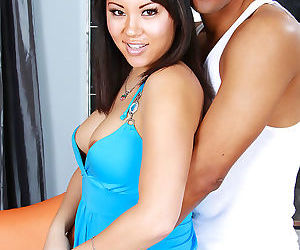 Naughty asian chick likes big fat cock in her pussy - part..