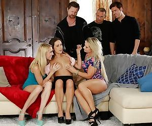 Busty chicks Ashley Adams- Cali Carter and Cadence Lux..
