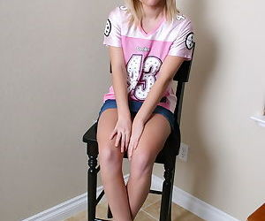 Cute Danielle Lynn flashes cotton panty upskirt before..