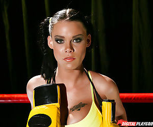 Sporty babe with pigtails in lingerie Peta Jensen gets..