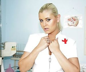 Cool and sexy nurse Alexa Bold licking nipples and playing..