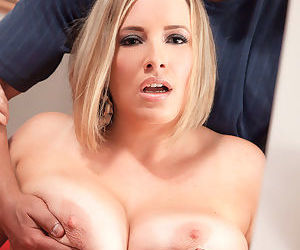 Blonde with fat ass and huge tits Maggie Green severe sex..