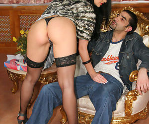 Huge tits babe in stockings Aletta Ocean has hardcore with..