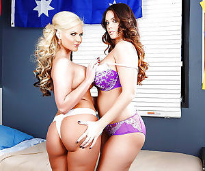 Buff lesbian milf Phoenix Marie gets nasty with Alison Tyler
