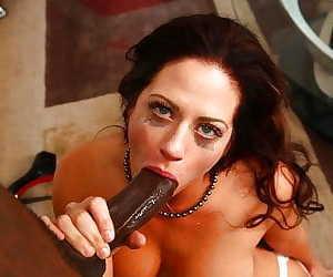 MILF pornstar Holly Heart receiving messy interracial..