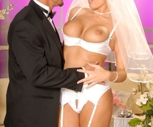 Busty Dylan Ryder in a brides dress getting roughly fucked