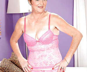 Naughty granny with flabby tits allura james playing with..