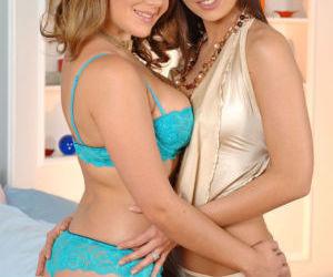 Sexy MILFs Eve Angel and Natasha Nice spread wet twats..