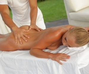 Ivana Sugar has her tight butt spread during massage for..