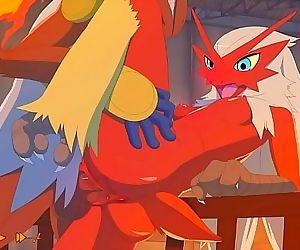 Pokemon: Blaziken and Infernapes..