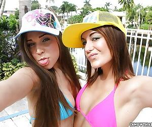 Amateur babes Tiffany and Tiffany..