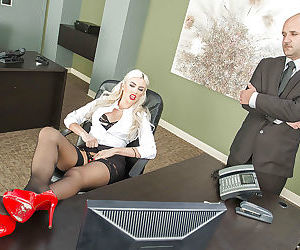 Big tits office lady Gigi Allens..