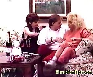 threesome fuck in retro 70s porno