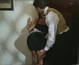Sexy Blonde Maid gets turned..