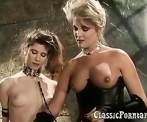 BDSM sex with slaves in retro porn 12 min HD