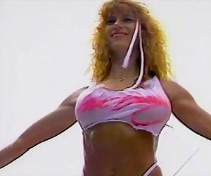 Julie Blaze Fulkerson Smoking Hot 90s Bikini Contest Girl Music Video
