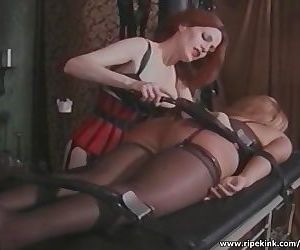 Tied blonde gets her big ass..