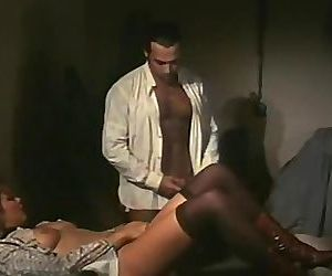 Vintage maid fucks the man..