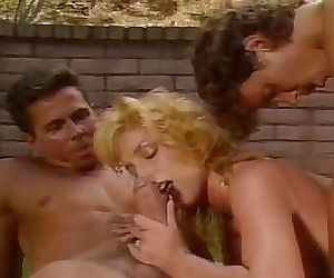 Katheleen Gentry - Fucking two guys in the backyard