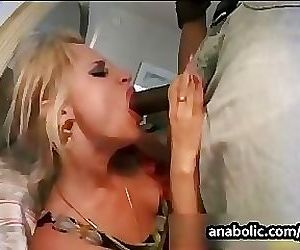 Two sluts get pounded hard by two black cocks