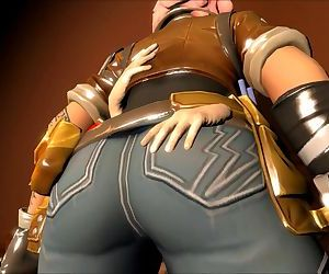 Fortnite Penny gets kissed on all her body! Romantic..