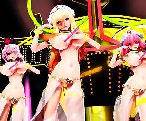 3D MMD Yukari, Eirin & Yuyuko in Girls