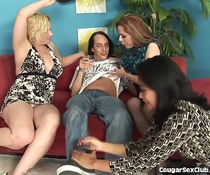 Hot MILF's In Wild Foursome
