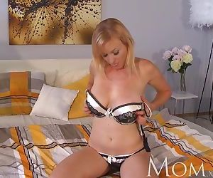 MOM Housewife Sherry likes to finger her pussy when she..