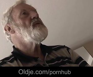Nasty Tina fucks oldman and eats his juice to cure her..