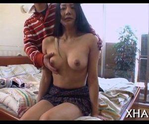 Japanese slut fucks with marital-device - 5 min
