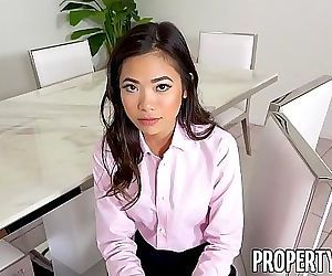 PropertySexHot petite Asian real estate agent fucks her..