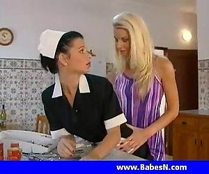 Sammy Jayne and her maid Sophie Lesbian sex