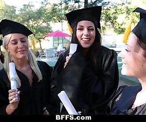 BFFSCelebrating Graduation With Lesbian ThreesomeHD