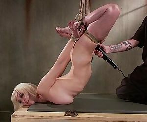 BDSM blondes fetish for pain shown by her master